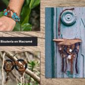 Mi Proyecto del curso: Joyería en macramé. Un projet de Artisanat, Design de bijoux, Tissage , et Macramé de Elena Rodríguez Fajardo - 01.08.2021