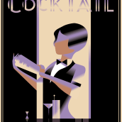 My project in Art Deco Style for Digital Illustration course. A Illustration, Fine Art, Poster Design, and Digital illustration project by Lisa Laudieri - 08.01.2021