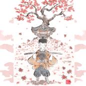 Ghost of Tsushima. PlayStation Latinoamérica. A Illustration project by Flor Kaneshiro - 08.05.2020