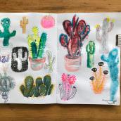 Mein Kursprojekt: Illustrationstechniken, um die Kreativität zu deblockieren. Um projeto de Design, Ilustração, Artes plásticas, Pintura, Criatividade, Criatividade para crianças e Sketchbook de Monika Kriener - 07.08.2021