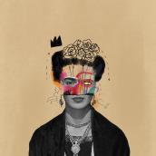 FRIDA. Um projeto de Ilustração, Ilustração digital, Ilustração de retrato, Desenho digital e Pintura digital de Júlia Nováková - 07.08.2021