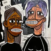 WOMANKIND. Um projeto de Ilustração, Artes plásticas, Pintura e Pintura Acrílica de Júlia Nováková - 07.08.2021