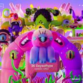 36DAYSOFTYPE MONSTERS. Un proyecto de Ilustración, 3D, Animación 3D, Modelado 3D, Diseño de personajes 3D, Diseño 3D y Lettering 3D de Jim Palacio - 20.06.2021