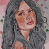 Summer . A Digitale Illustration und Porträtillustration project by Mariana Quinteros - 29.07.2021