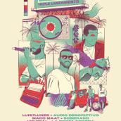 AFTERCLASS TRIPLE LANZAMIENTO. Um projeto de Ilustração, Design de cartaz e Design gráfico de Erick Ortega - 10.08.2021