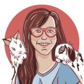 Illustated Self-Portrait. Un proyecto de Ilustración de Linda van den Heuvel - 07.08.2021