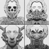 Sketchbook - Symmetrical Portraits 02. Um projeto de Ilustração de Elola illustrator - 10.08.2021