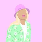 "Ilustraciones ""Color block"". A Illustration, Graphic Design, Vector Illustration, Digital illustration, and Portrait illustration project by Mar Palacios - 08.10.2021"