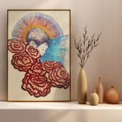 Meu projeto do curso: Criação de retratos bordados. A Portrait illustration, Embroider, and Textile illustration project by Paulica Santos - 08.14.2021