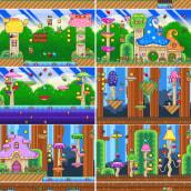 Mi Proyecto del curso: Creación de escenarios pixel art para videojuegos. Um projeto de Animação 2D, Animação 3D, Videogames, Pixel Art, Design de videogames e Desenvolvimento de videogames de María Parra - 16.08.2021