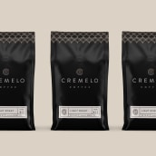 Cremelo Coffee. A Design, Graphic Design, Packaging, T, pograph, and Logo Design project by Kevin Craft - 08.17.2021