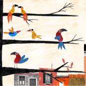 Mi Proyecto del curso: Técnicas experimentales para álbumes ilustrados. A Illustration, Editorial Design, Drawing, Stor, board, Children's Illustration, and Narrative project by Sol Falcón - 08.19.2021