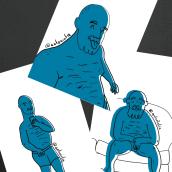 Summer Doodles (Baby Blue). A Illustration, Digital illustration, and Fine Art project by Antonio Fernández San Emeterio - 08.27.2021