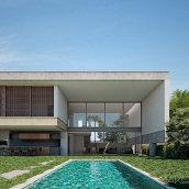 Casa L2   make_hb. Un proyecto de Arquitectura, Arquitectura interior, Paisajismo y Visualización arquitectónica de Federico Hernández Barrón - 28.08.2021