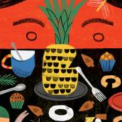 Joana e o pé de araucária. A Design, Illustration, Collage, Digital illustration, Children's Illustration, and Digital Design project by Ana Matsusaki - 08.31.2021
