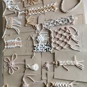 My project in Macramé Knots: Create a Sample Collection course. Un projet de Création d'accessoires, Artisanat, Tissage , et Macramé de Renáta Kováčová - 31.08.2021