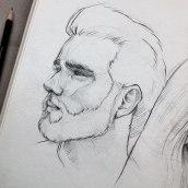 My project in Portrait Sketchbooking: Explore the Human Face course. Um projeto de Esboçado, Desenho, Desenho de Retrato, Desenho artístico e Sketchbook de Gabriela Niko - 09.09.2021