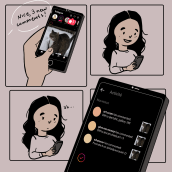 My project in Digital Comic Illustration for Social Media course. A Illustration, Comic, Social Media, Drawing, Digital illustration, Instagram, and Digital Drawing project by Camila Picheco - 09.09.2021