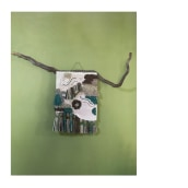 Desierto y turquesa. A Crafts, Embroider, Textile illustration, Decoration, Fiber Arts, and DIY project by Jeisel Hernández Coronado - 03.22.2021
