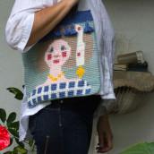 Mi Proyecto del curso: Tapestry: técnica de crochet para dibujar con hilos. Un projet de Création d'accessoires, Mode, Création de motifs, Tissage, DIY , et Crochet de Elena Rodríguez Fajardo - 08.09.2021