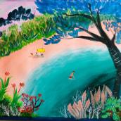 Mi Proyecto del curso: Naturaleza con pintura acrílica: del cuaderno al lienzo . Un progetto di Illustrazione, Pittura, Pittura acrilica , e Sketchbook di Arlette Cassot - 13.09.2021
