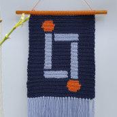 Mi Proyecto del curso: Intarsia crochet: teje tus propios tapices. Un projet de Mode, St, lisme, Décoration d'intérieur, Tissage, DIY , et Crochet de Elena Rodríguez Fajardo - 14.09.2021