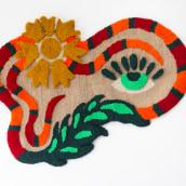 Coral - Tapete Tufting. Un projet de Design , Artisanat , et Beaux Arts de Luiza Caldari - 15.09.2021