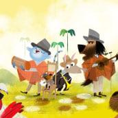 """""""La Rumba de los Animales"""" Revista Cucú. Un proyecto de Ilustración, Diseño de personajes e Ilustración digital de John Joven - 01.12.2019"""