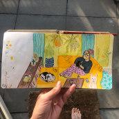 My project in Exploratory Sketchbook: Find Your Drawing Style course. Un proyecto de Ilustración, Bocetado, Creatividad, Dibujo, Pintura a la acuarela, Sketchbook y Pintura gouache de Linda van den Heuvel - 17.09.2021