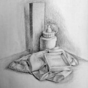 Mi Proyecto del curso: Dibujo artístico para principiantes. Un progetto di Disegno a matita, Disegno, Disegno realistico , e Disegno artistico di Arlette Cassot - 18.09.2021
