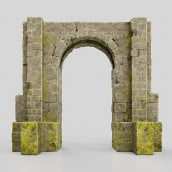 Gate of Stone. A 3d modeling project by Alejandro Soriano - 09.28.2021
