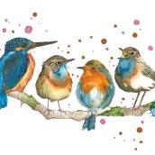 Mi Proyecto del curso: Acuarela artística para ilustración de aves. A Illustration, Aquarellmalerei, Realistische Zeichnung und Naturgetreue Illustration project by Mariana Quinteros - 29.09.2021