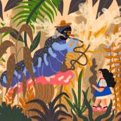 Alicia en el país de las maravillas. A Illustration, Editorial Design, Drawing, Stor, board, Children's Illustration, and Narrative project by Gisele Murias - 10.04.2021
