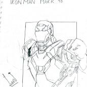 Iron man mark 46. A Illustration project by Leo Daniel - 10.09.2021