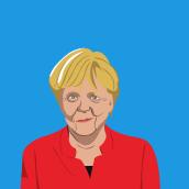 Angela Merkel. Um projeto de Ilustração de Francisco Bonett - 10.10.2021