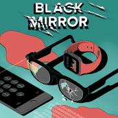Black Mirror. A Illustration, Drawing, Digital illustration, and Editorial Illustration project by Laura Wächter - 06.25.2021