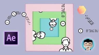 """Curso3 - Motion graphics: camadas de forma e texto animado. Um curso de  de Carlos """"Zenzuke"""" Albarrán"""