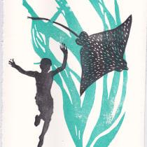 Mi Proyecto del curso Carvado de sellos y técnicas de estampación. A Illustration, and Screen-printing project by Amaia Gómez Marzabal - 06.02.2015