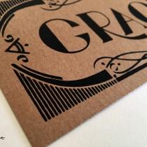 Gracias. Serigrafia de lettering . Um projeto de Design, Serigrafia e Escrita de Noelia Tramullas Fernandez - 21.10.2015