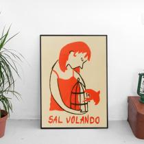 Serigrafía: Sal volando. Um projeto de Serigrafia de Mónica Jiménez art - 28.02.2016
