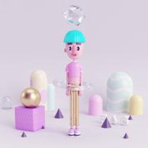 FAG Mi Proyecto del curso: Diseño de personajes en 3D. A Illustration, 3-D und Design von Figuren project by Zallary Cardona - 11.03.2016
