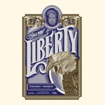 Liberty Whiskey. A Illustration, Graphic Design, Packaging, and Lettering project by Steve Reyes - 06.01.2017