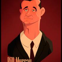 Mr. Bill Murray. Um projeto de Ilustração vetorial de Salvador Laserna Pla - 12.12.2017