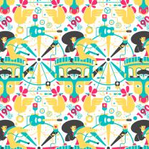 Mi Proyecto del curso: concurso de cartel para la Feria de San Marcos 2018.. Un proyecto de Diseño, Pattern Design e Ilustración vectorial de Luis Herrera - 29.12.2017