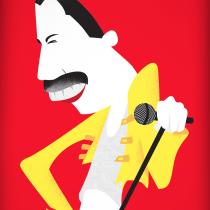 Ilustración de personajes para prensa: Freddie. Um projeto de Ilustração, Design gráfico e Ilustração vetorial de Claudio Baucela - 22.01.2018