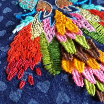 Buho multicolor. A Crafts project by Mónica González Martín - 03.21.2018