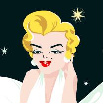 Mi Proyecto del curso: Ilustración de personajes, Marilyn Monroe. Um projeto de Ilustração de Flor Aguilar - 08.05.2018