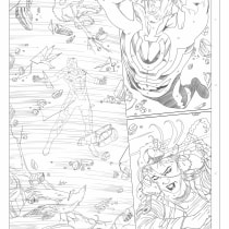 comic Uncanny Avengers - pencil. A Illustration, and Comic project by Carlos Gollán - 07.03.2018