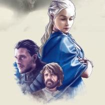 Game of Thrones. Un proyecto de Ilustración, Diseño gráfico y Cómic de Thomás Reynoso Vazquez - 21.07.2018
