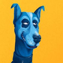 Blue dogday. Um projeto de Publicidade de Jesús Jordán - 05.08.2018